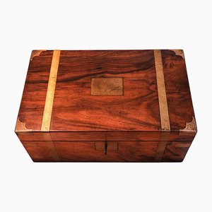 Military Campaign Walnut Brass Bound Trunk