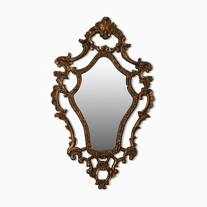 Miroir Mural Décoratif Gesso Rococo Doré