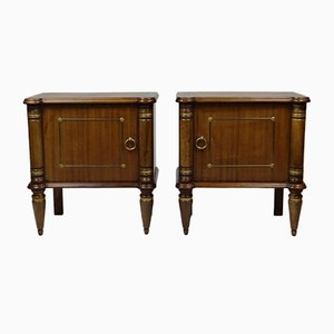 Rosewood Nightstands from De Coene, 1940s, Set of 2