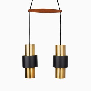 Lámparas de techo Mid-Century de Johannes Hammerborg para Fog & Mørup. Juego de 2
