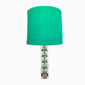 Mid-Century Swedish Crystal Table Lamp by Carl Fagerlund for Orrefors, 1960s
