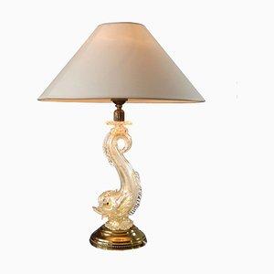 Lampada vintage in vetro soffiato di Barovier & Toso, anni '50