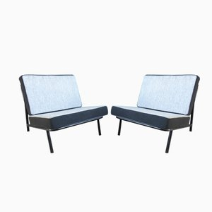 Italian Reclining Club Chairs, Set of 2, 1950s