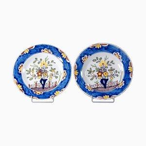 Antique Delft Plates, Set of 2