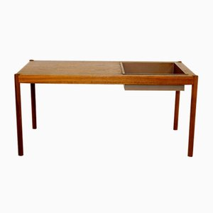 Scandinavian Walnut and Metal Console Table/Planter, 1960s