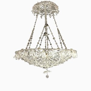 Crystal Bead Chandelier, 1950s