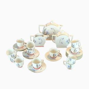 Set da caffè Art Déco, Repubblica Ceca, anni '30, set di 27