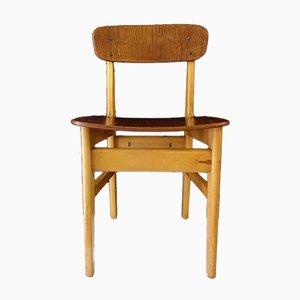 Chaise d'Ecolier Mid-Century en Teck & Hêtre, Danemark, 1950s