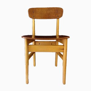 Mid-Century Danish School Chair in Teak & Beech, 1950s
