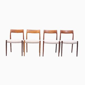 Mid-Century Model 77 Rosewood Dining Chairs by Niels Otto Møller for J.L. Møllers, Set of 4
