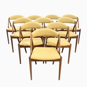 Mid-Century Danish Teak Model 61 Dining Chairs, Set of 10