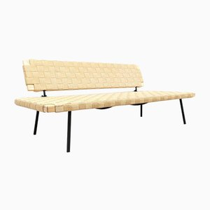 Vintage Oak Woven Sinnerlig Bench Seat Sofa by Ilse Crawford for Ikea