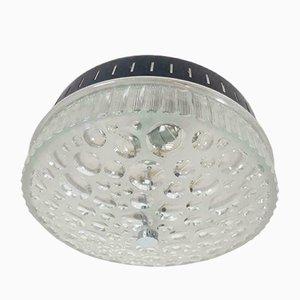 Lampada da parete o da soffitto vintage in vetro, Italia, anni '60