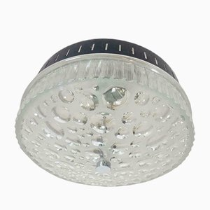 Vintage Italian Cut Glass Wall or Ceiling Lamp, 1960s