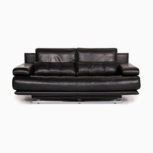 Black Leather 6500 3-Seat Sofa by Kein Designer for Rolf Benz