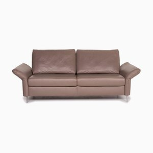 Beige Leather 3-Seat Sofa from Mondo