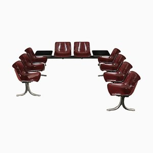 Metal, Aluminium & Plastic Chairs by Osvaldo Borsani for Tecno, 1970s, Set of 3