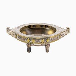 Late-19th Century Jugendstil Cup in Silvered Metal