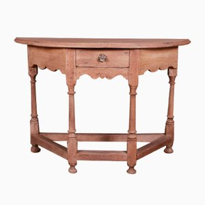 Bleached Oak Console Table, 1780s