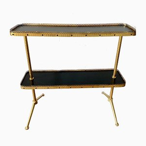 Vintage Brass Flower Bench, 1960s