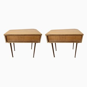 Mid-Century Nightstands, 1960s, Set of 2