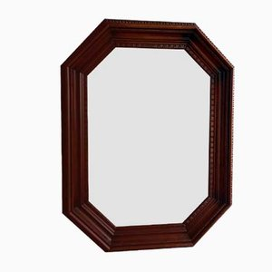 Wooden Octagonal Bevelled Mirror, 1920s