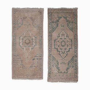 Tribal Distressed Wool Rugs, 1970er, 2er Set