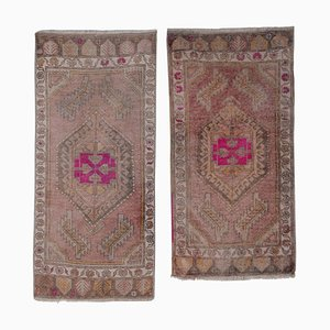 Tribal Distressed Wool Rugs, 1970er, 2er Set