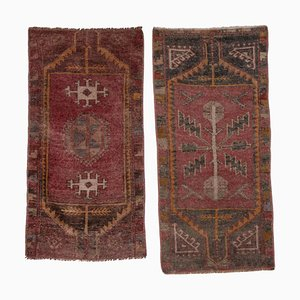 Handwoven Oushak Wool Yastik Runners, 1970s, Set of 2