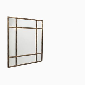 Italian Brass and Faux Bamboo Mirror, 1970s