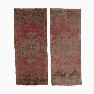 Distressed Tree of Life Turkish Rugs, 1970s, Set of 2
