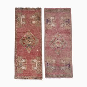 Distressed Turkish Rugs, 1970s, Set of 2