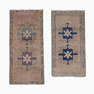 Small Distressed Turkish Rugs, 1970s, Set of 2