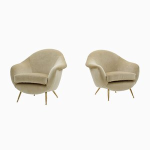 Armchairs by Guglielmo Veronesi, 1950s, Set of 2