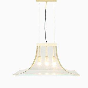 Vintage Deckenlampe mit 3 Leuchten von Fontana Arte, 1960er