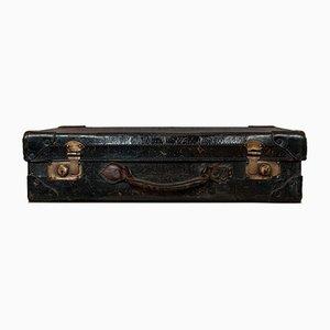 Antique English Edwardian Leather Trunk