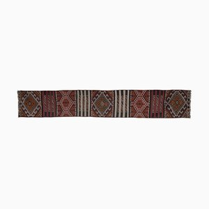 Turkish Anatolian Kilim Embroidery Runner Rug, 1970s