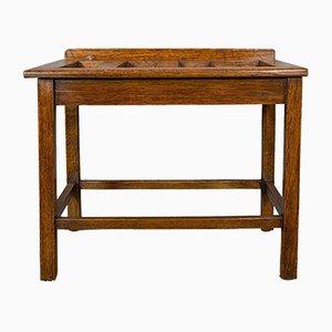 Antique Edwardian English Oak Rack