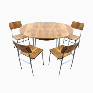 Mid Century Dining Room Set, 1960s, Set of 5
