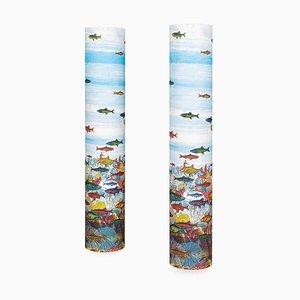 Italian Floor Lamps by Atelier Fornasetti for Fornasetti, 1990s, Set of 2