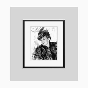 Bette Davis Eyes Archival Pigment Print Framed in Black by Everett Collection