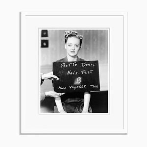 Bette Davis Hair Test Archival Pigment Print Framed in White by Everett Collection