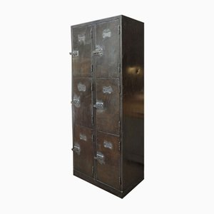 Industrial Metal Cabinet with 6 Drawers, 1950s