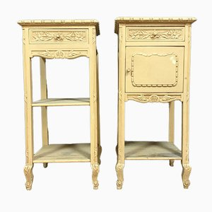 Antique Louis XVI Lacquered Wood Cabinets, Set of 2