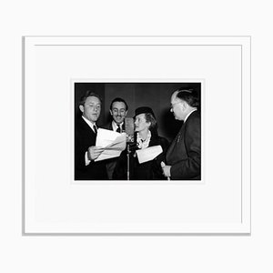 Walt Disney & Friends Microphone Reading Archival Pigment Print Framed in White by Everett Collection