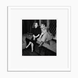 Bette Davis with Her Husband Archival Pigment Print Framed in White by Everett Collection