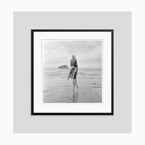Brigitte Bardot Silver Gelatin Resin Print Framed in Black by Jim Gray