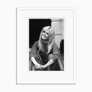 Brigitte Bardot Kunstdruck aus Silbergelatine Harz in Weiß von Cattani