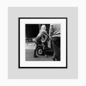 Brigitte Bardot Mini Car Mini Skirt Silver Gelatin Resin Print Framed in Black by Michael Webb