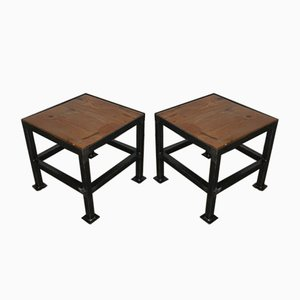 Italian Iron Stools, 1970s, Set of 2